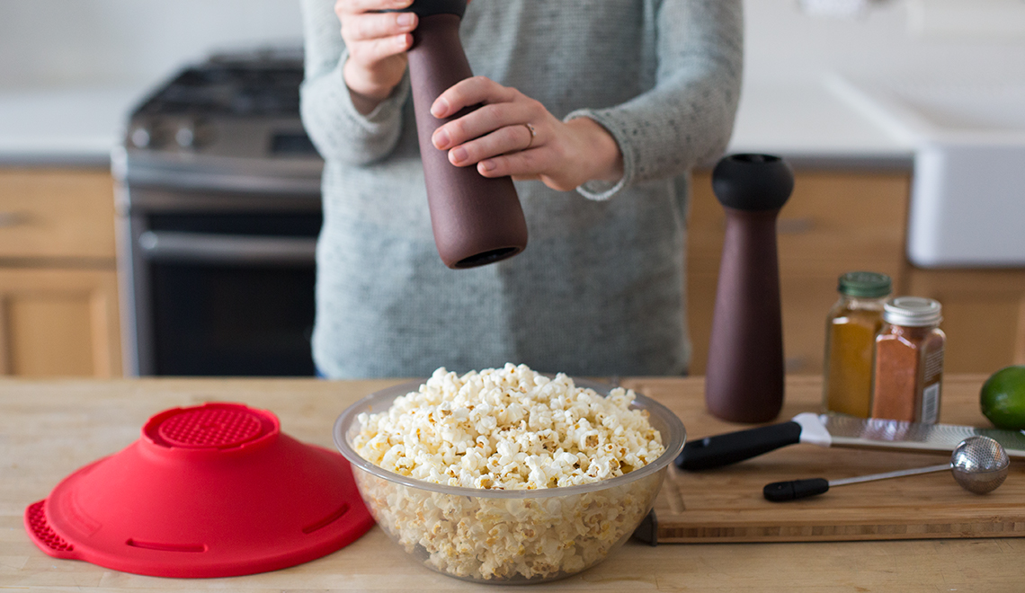 An Easy Way to Microwave Popcorn Kernels—and Fun Toppings