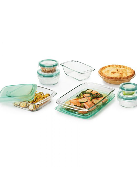 glass bakeware and storage set