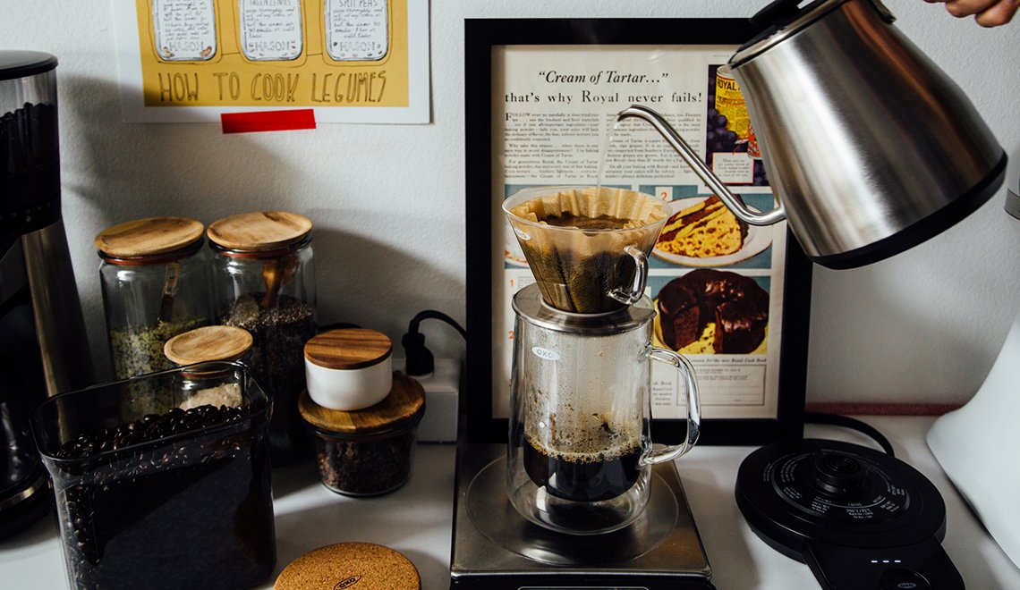 My Favorite Cup of Pour-Over + Homemade Soy Creamer by Oh, Lady Cakes