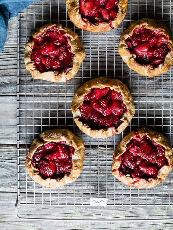 Gluten-Free Strawberry Balsamic & Thyme Galettes + Tips for Gluten-Free Baking from Snixy Kitchen