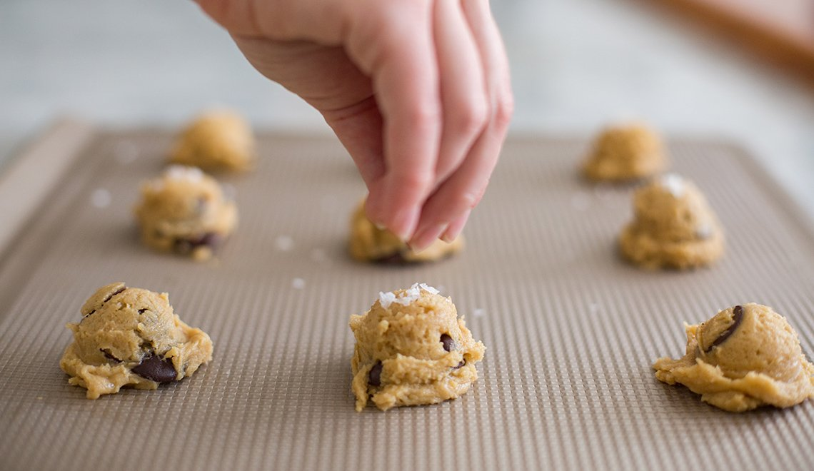 OXO salted chocolate chip cookies dan kluger