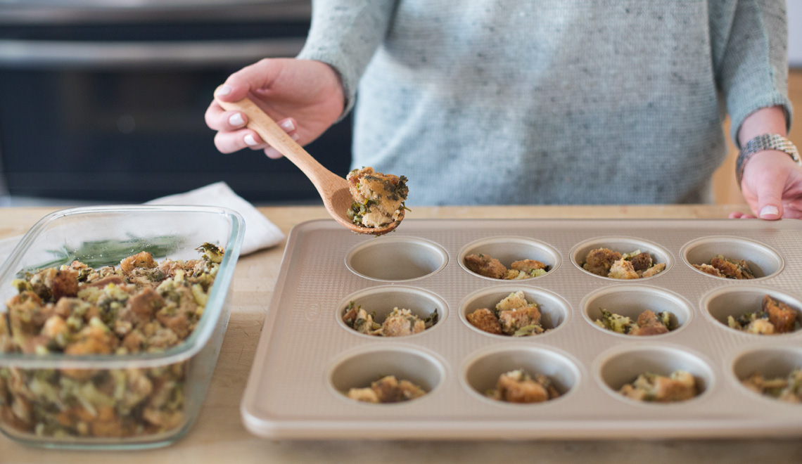 Thanksgiving leftovers: stuffin' muffins