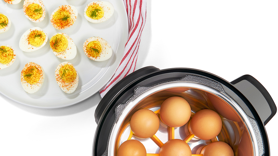 steaming eggs