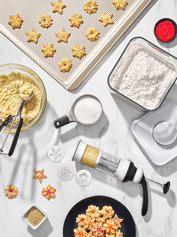 How to Use the OXO Cookie Press—Plus 4 Great Spritz Cookie Recipes