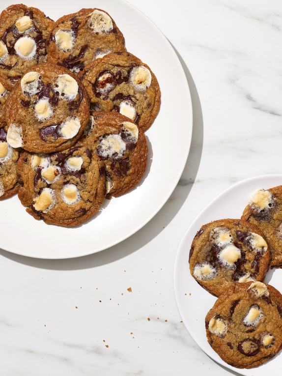 Get a Taste of Camping with These Gooey S'mores Cookies from Marc Murphy