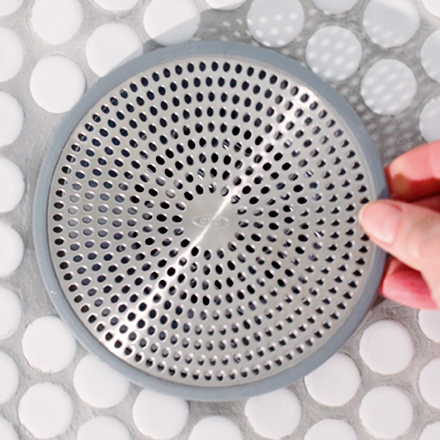 cleaning shower drain