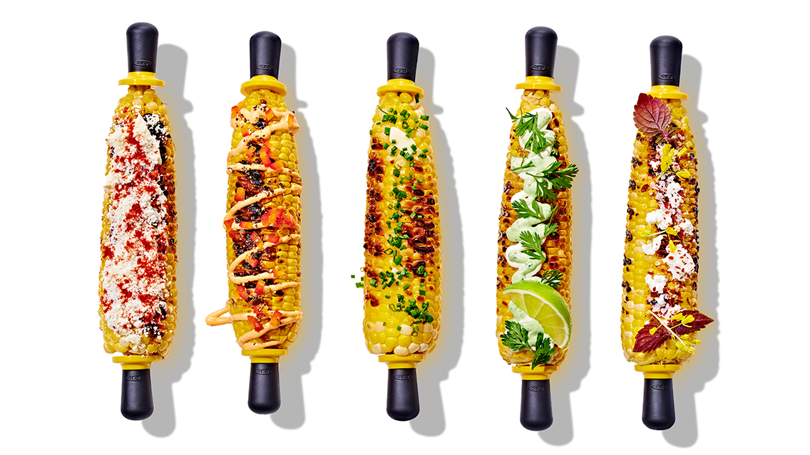 varieties of grilled corn on the cob