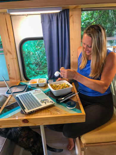 Prep & Go Food Diaries: How One Couple Living on a School Bus Spends Their Week