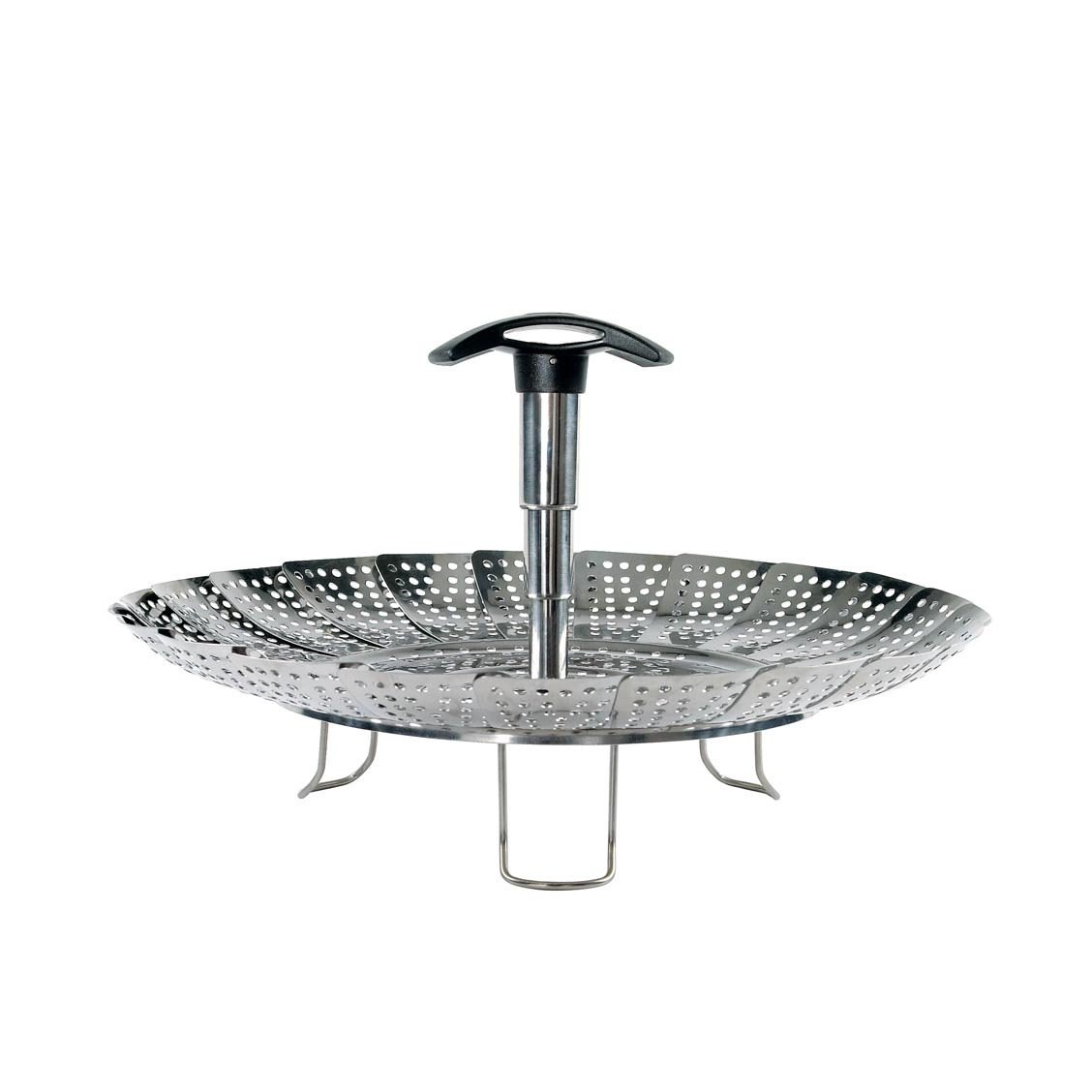 Stainless Steel Steamer with Extendable Handle