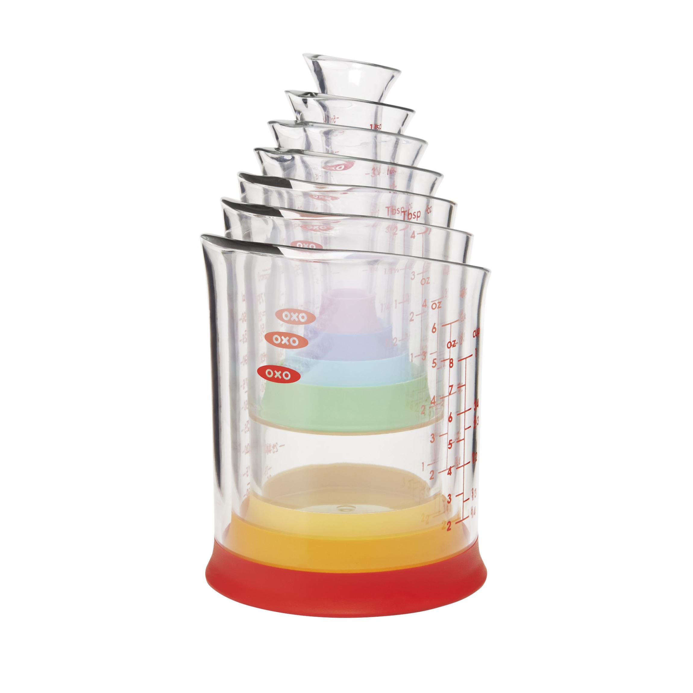 7 Piece Liquid Measuring Beaker Set