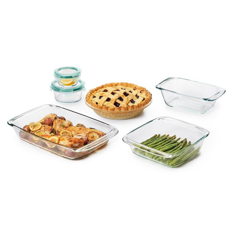 OXO Good Grips 8 Piece Glass Bake, Serve & Store Set