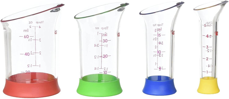 4 Piece Mini Measuring Beaker Set
