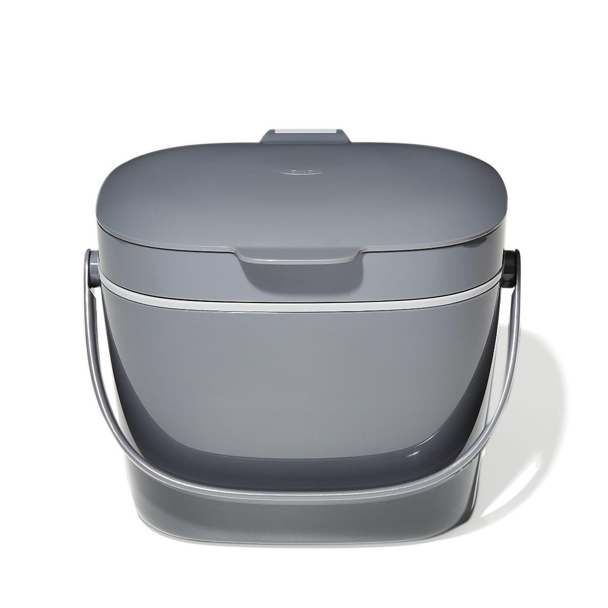 Easy-Clean Compost Bin-Charcoal