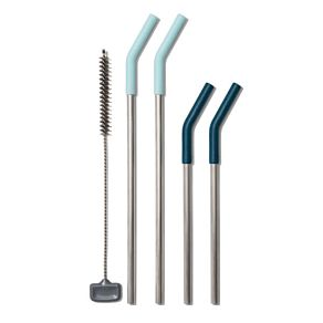 Reusable Straws with Cleaning Brush (5 pc set)