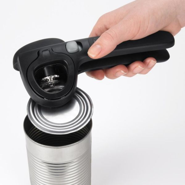 Locking Can Opener with Lid Catch