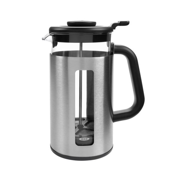 OXO Brew 8-Cup French Press Coffee Maker with GroundsLifter