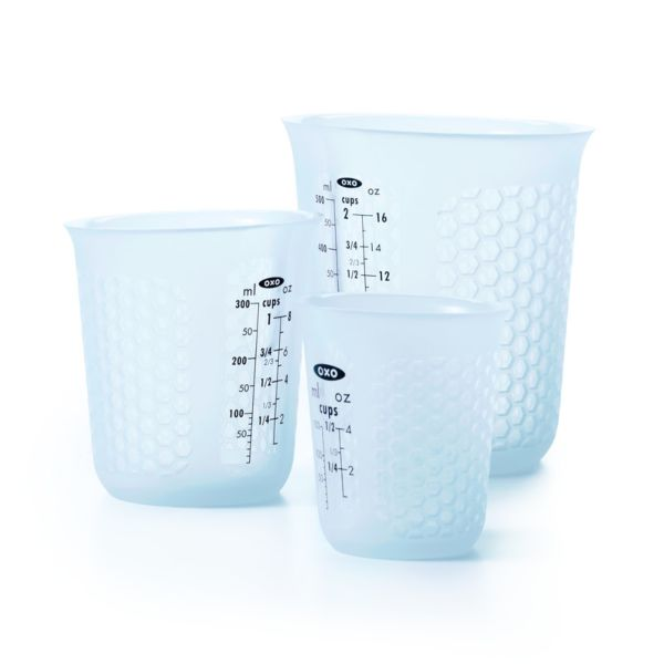 3 Piece Squeeze & Pour Silicone Measuring Cup Set