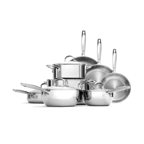Stainless Steel Pro 13-Piece Cookware Set
