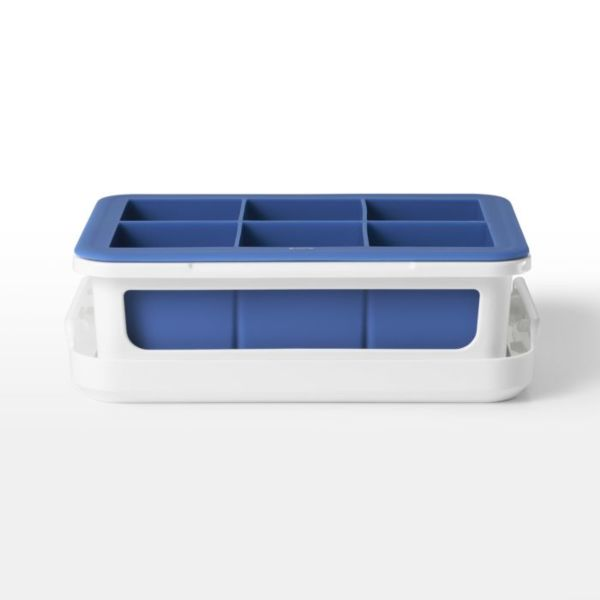 Covered Silicone Ice Cube Tray-Large Cube