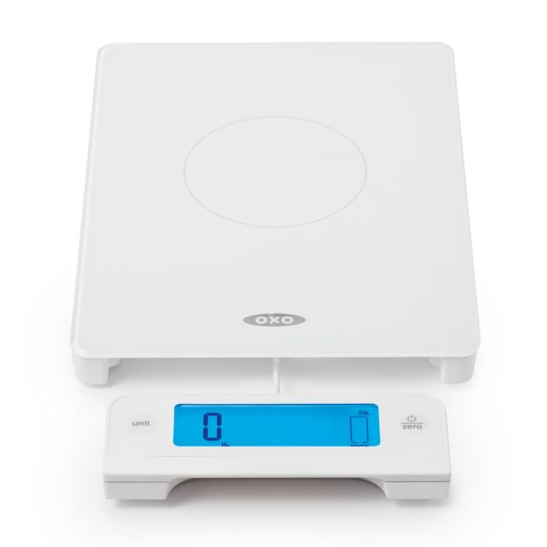 11 lb Glass Food Scale with Pull Out Display