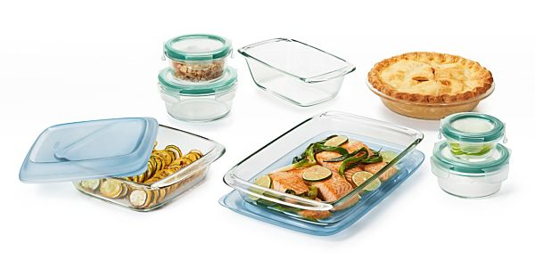 14 Piece Glass Bake, Serve & Store Set