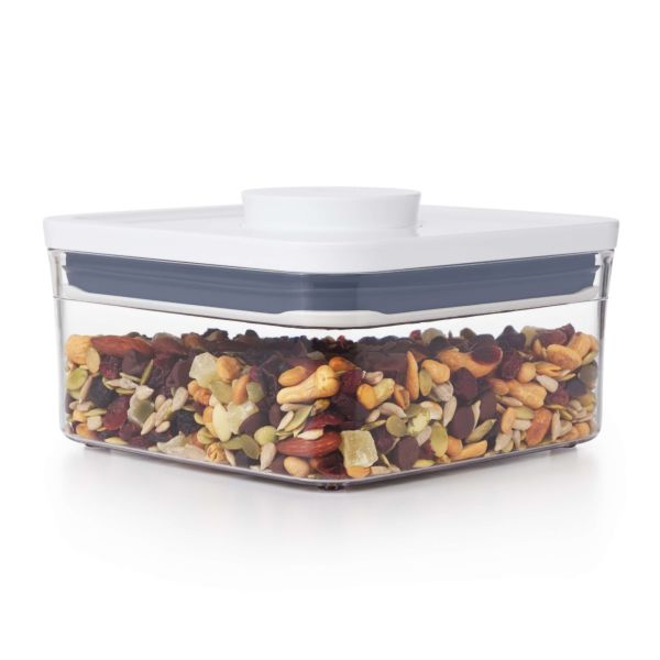 OXO POP Container, Big Square Mini 1.1 qt. with dried apricots