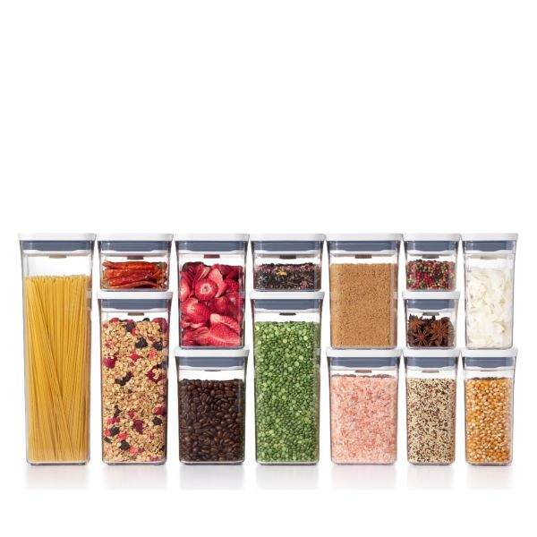 Filled containers from the OXO 20-Piece POP Container Set