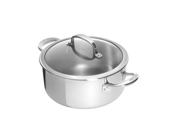 Stainless Steel Pro 8 Qt Covered Casserole