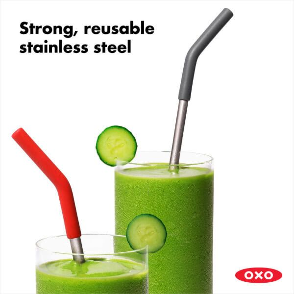 Reusable Straws with Cleaning Brush (3 pc set)