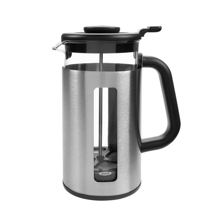 OXO Brew 8-Cup French Press Coffee Maker with GroundsLifter 9261