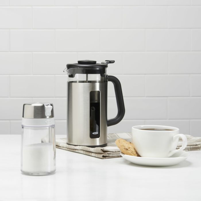 OXO Brew 8-Cup French Press Coffee Maker with GroundsLifter 9263