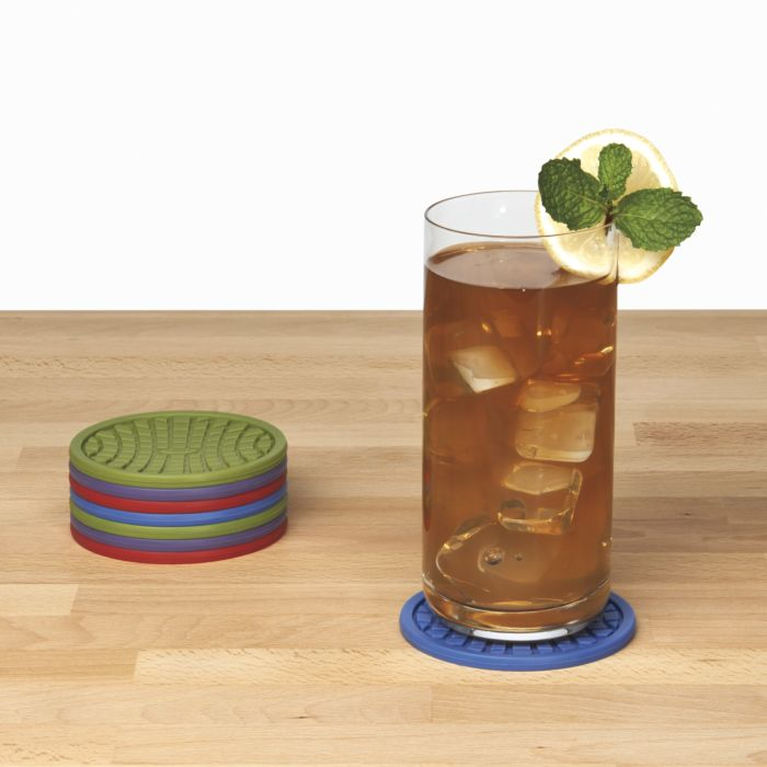 Silicone Coasters (8 pk.) - Assorted Colors 1281