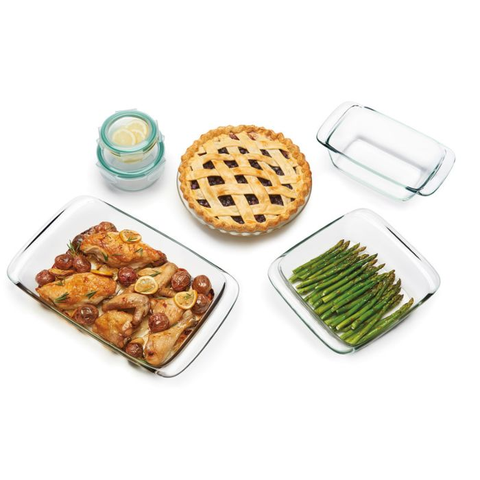 OXO Good Grips 8 Piece Glass Bake, Serve & Store Set 8961