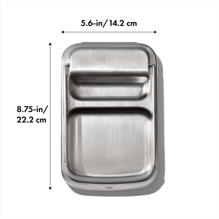 Stainless Steel Spoon Rest with Lid Holder 176881