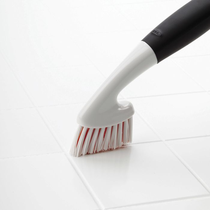 OXO Grout Brush on grout lines