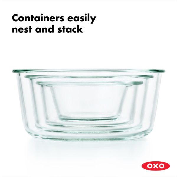 8 Piece Smart Seal Glass Round Container Set 176480