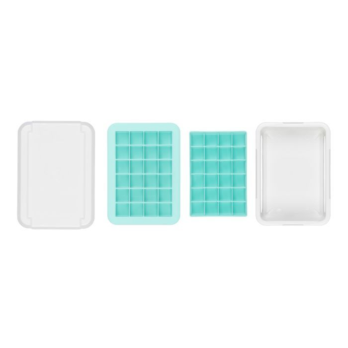 Covered Silicone Ice Cube Tray-Cocktail Cubes 176951