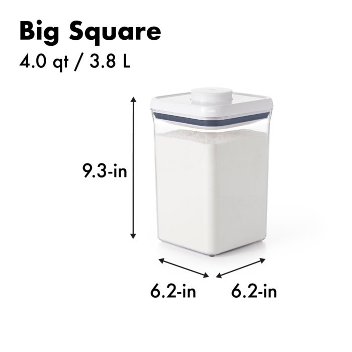 OXO SteeL POP Container-Big Square (4.0 Qt) 5741
