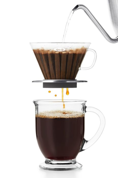 Glass Pour-Over Coffee Dripper