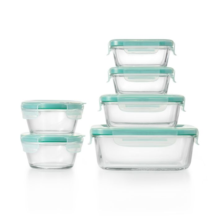 OXO Good Grips 12 Piece Smart Seal Glass Container Set 8998