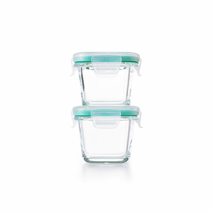 4 Piece Smart Seal Glass Mini Square Container Set 176909