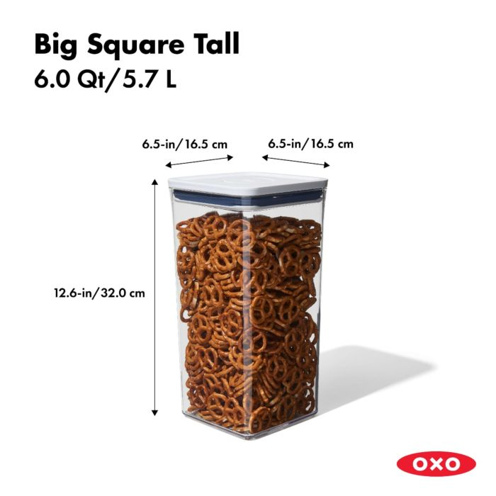OXO POP Container, Big Square Tall 6.0qt 175375