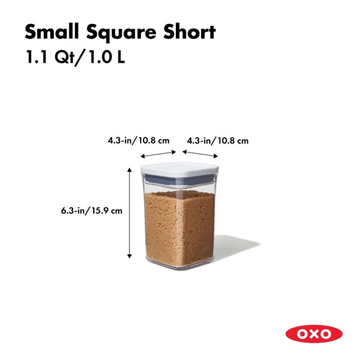 OXO POP Container, Small Square Short 1.1 qt. 175432