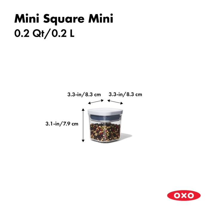 OXO POP Container, Mini Square Mini 0.2 QT 175450