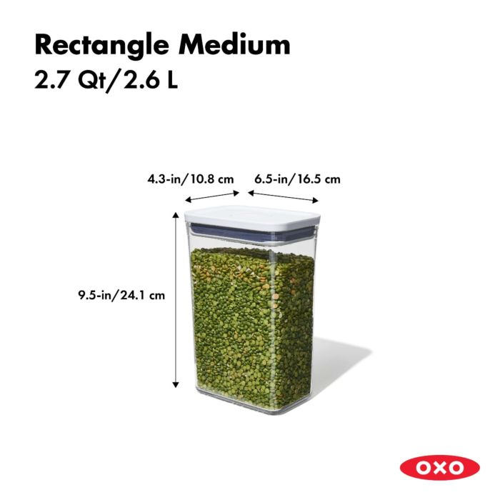 OXO POP Container, Rectangle Medium 2.7 qt. 175463