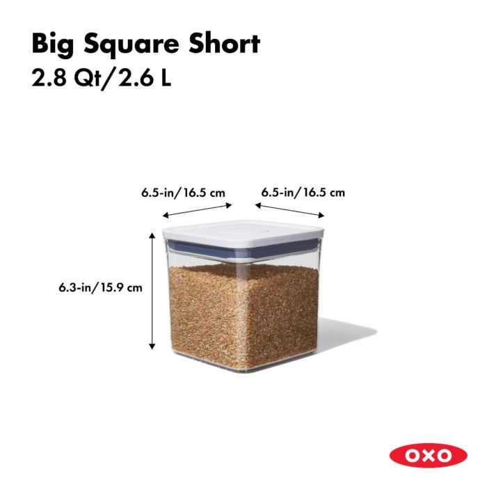 OXO POP Container, Big Square Short 2.8 qt. 175410