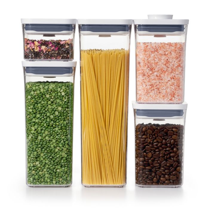 OXO 5-Piece POP Container Set filled with pantry essentials