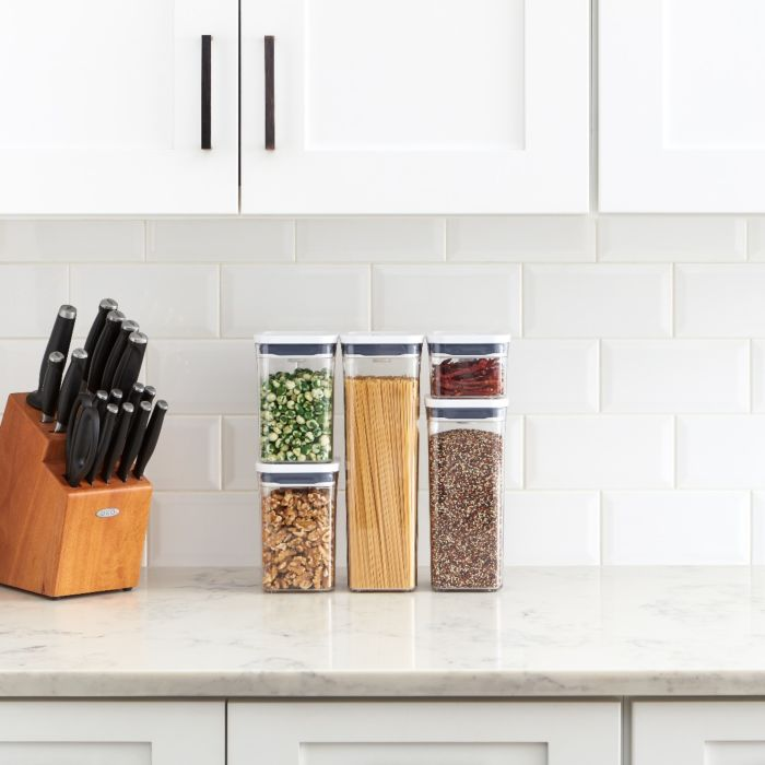 OXO 5-Piece POP Container Set on kitchen countertop