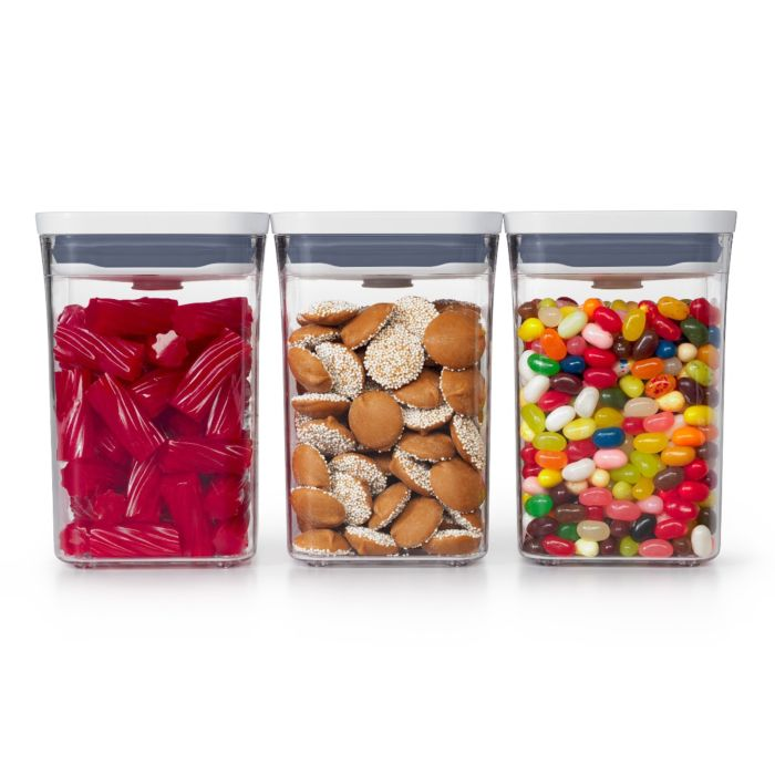 OXO POP 3 Piece Small Container Set filled with candy