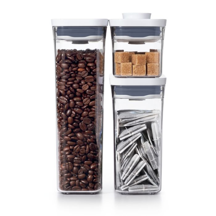 OXO POP 3 Piece Variety Set with sugar, coffee beans and tea